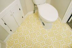 My DYI project: stenciled and painted linoleum floors