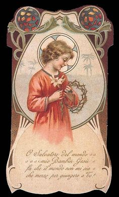 Catholic Art, Roman Catholic, Vintage Holy Cards, Religious Pictures, Mary And Jesus, Crown Of Thorns, Son Of God, Illustrations And Posters, Sacred Heart