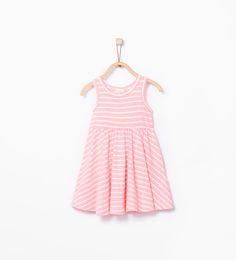 Striped organic cotton dress from Zara