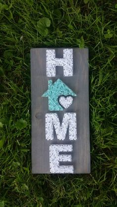 Small Home String Art Home is where the heart is by BlossomsNKnots
