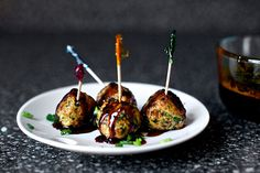 Scallion Meatballs | 100 Things You Can Eat On A Stick