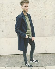 #style #coat #darkblue #boy #alternative #vans #love