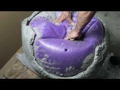 DIY: Trend Gartendeko aus Beton zum Kneten / Knetbeton - YouTube