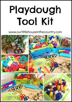 Doodles (4y.o.) and Oodles(2y.o.) had the play dough out again this afternoon. While they were creating aliens and monsters with lots of bits and pieces, I decided to clean out the crate that we k...