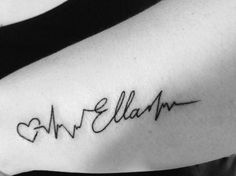 Tattoo Kindernamen Herz