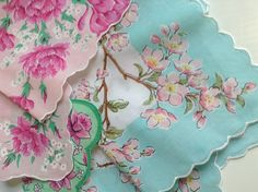 LuRay Apple Blossom Hankie 2013 ~ Want for my hankie collection just like my Grandma's