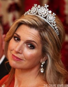 Hagen Hopkins/Getty Images The Dutch royal vaults are absolutely brimming with tiaras, but today's deceptively-simple sparkler, Queen . Royal Crowns, Royal Tiaras, Tiaras And Crowns, Poltimore Tiara, Paula Ordovás, Queen Wilhelmina, Dutch Queen, Diamond Crown, Crown Princess Victoria