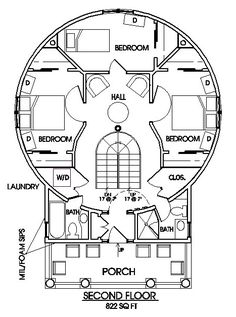 Silo house plans Lots of options on this one page - I'd probably choose the one with the stairs in a line on the right side. Round House Plans, Tiny House Plans, House Floor Plans, Silo House, Grain Silo, Dome House, Tiny House Living, Living Room, Shipping Container Homes