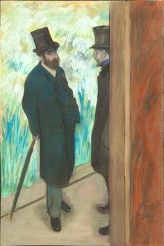 """Friends at the Theatre, Ludovic Halevy & Albert Cave Edgar Degas Musée d'Orsay, Paris, France Edgar Degas, Art Design, Graphic Design Art, Artist Canvas, Canvas Art, Canvas Size, Degas Paintings, William Adolphe Bouguereau, Pierre Auguste Renoir"