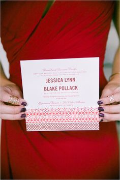 red wedding invitation @weddingchicks