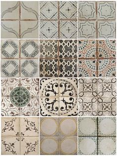This would make a cool pattern for a shower wall. Handmade tiles can be colour coordinated and customized re. shape, texture, pattern, etc. by ceramic design studios Tile Patterns, Textures Patterns, Print Patterns, Vintage Tile, Tile Design, Ceramic Design, Delft, Ceramics, Prints
