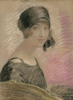 Gerda Wegener (1886-1940) Portrait in Pastels, 1920