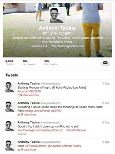 Profile Page from Twitter