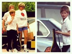 1997: Prince Harry and Princess Diana went out to play tennis.