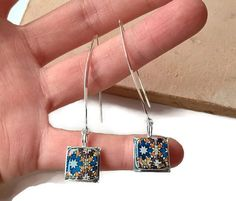 Moroccan tiles replica earrings Moroccan jewelry Moroccan by XTory