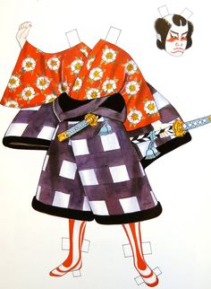 Kabuki Costumes Paper Dolls by Ming,Ju Sun , Dover Publications, Inc.,