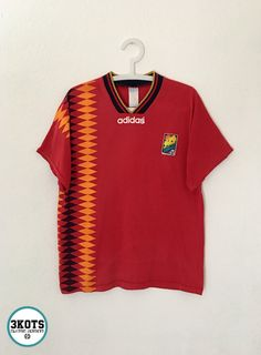 8d3b5a77510 SPAIN 1994 Home Football Shirt L Soccer Jersey ADIDAS Vintage Maglia España  Sony  adidas
