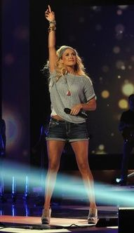 Carrie was ready to party even at rehearsals! #CMTawards #GettyImages #CarrieUnderwood