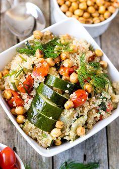 Roasted Chickpeas and Quinoa Veggie Bowl