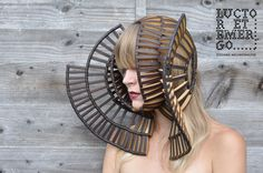 A series of sculpture headpieces made by designer Stefanie Nieuwenhuyse for the collection 'Luctor et Emergo'.