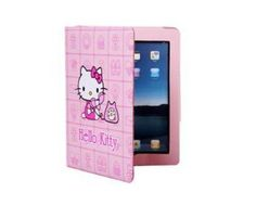 iPad 2 Case Durable PU Leather Hello Kitty Design Folding Free Shipping