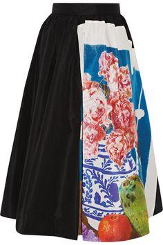 Prada | Printed silk-faille midi skirt | NET-A-PORTER.COM