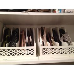 for flip flops: use letter organizers in your closet.