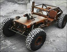 Like Rat Rods? Then you might want to take a few minutes to have a look at the Hauk Designs Rat Rock Jeep. Rat Rod Trucks, Rat Rods, Jeep Rat Rod, Rat Rod Cars, 4x4 Trucks, Diesel Trucks, Custom Trucks, Cool Trucks, Custom Cars
