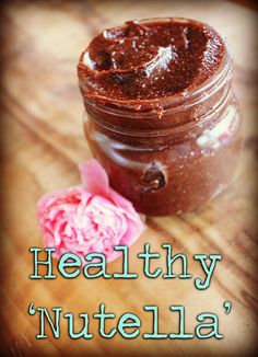Healthy Nutella recipe Nutella Recipes, Good Mood, Sweet Tooth, Sweet Treats, Food And Drink, Healthy Recipes, Snacks, Fresh, Chocolate