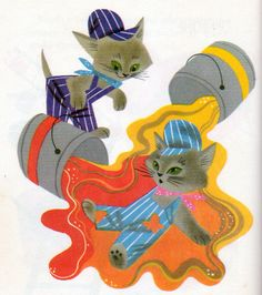 """From """"The Color Kittens"""" (Little Golden Book) by Margaret Wise Brown, illustrated by Alice and Martin Provensen; Golden Press, 1949 (1958 edition)"""