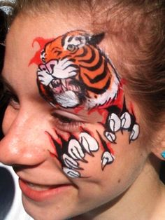 Great alternative to a regular tiger face mask