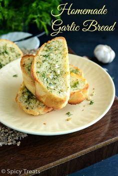 Bread Recipes From Scratch Lovely Spicy Treats Garlic Bread From Scratch Homemade Garlic Garlic Bread From Scratch, Make Garlic Bread, Homemade Garlic Bread, Homemade Recipe, Homemade Buns, Garlic Butter, Bread Toast, Bread Bun, Roti Bread