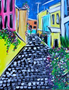 Streets of Old San Juan... CBU Canvas by U-