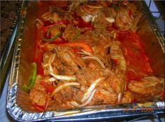 Haitian meat in sauce
