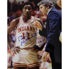 Bob Knight Signed 8x10 W Player - Bob Knight also known as The General won 902 career NCAA Games while coaching at West Point 1965-71 University of Indiana 1971-2000 and Texas Tech 2001-08. His 902 career wins are second most all-time only behind Coach Ks career total at Duke. While coaching at Indiana Knight led his team to three National Titles eleven Big Ten Conference Championships he also won NCAA Coach of the Year four times. His career record was 902-371 and he was one of the most…