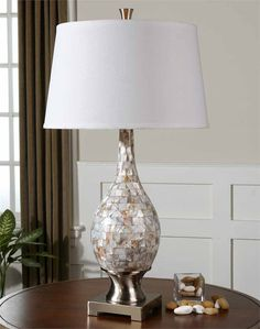 Mother Of Pearl Table Lamp, Home, Decor, Accessories, Lamps, Lighting.