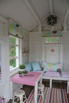 One of one of the most fulfilling and simplest weekend jobs it is possible to do to stimulate your child's creativity would be to develop an outside playhouse. Inside Playhouse, Playhouse Decor, Playhouse Interior, Backyard Playhouse, Build A Playhouse, Playhouse Ideas, Cubby Houses, Play Houses, Little Girls Playhouse