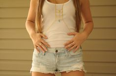 Body Chain with Turquoise bead by NativeLivingJewelry on Etsy, $45.00