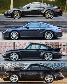 Porsche 911 Turbo - Various Generations via Classy Bro Porsche Sports Car, New Sports Cars, Porsche Cars, Sport Cars, Porsche 964, Porsche Carrera, Ferdinand Porsche, Ford Classic Cars, Best Classic Cars