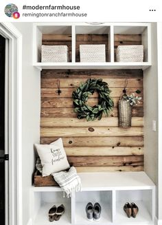 My secret to not collecting clutter in the drop zone? We designed a little drop down desk space in our laundry room (see my last post)… Hall Deco, Drop Down Desk, Diy Home Decor, Room Decor, Entryway Decor, Foyer, Home Projects, Furniture Projects, Home Remodeling