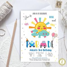 Editable Drive By Space Birthday Parade Invitation, Virtual Party Invite,  Car Girl Pink Quarantine, Instant Download Digital, YOU PRINT Party Invitations, Invite, 3rd Birthday, Birthday Cards, Party Printables, Baby Announcement Cards, Pink Girl, Preschool Graduation, Digital