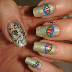 nail art with a science design http://instagram.com/naq57