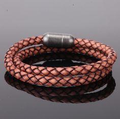 RAVENT - pánsky náramok - kombinácia kože a chirurgickej ocele, dĺžka: 21cm Bracelets For Men, Bangle Bracelets, Bangles, Stainless Steel Metal, Stainless Steel Jewelry, Vintage Leather, Fashion Jewelry, Handmade, Beautiful