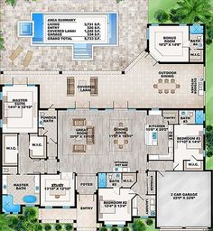 Florida House Plan with Detached Bonus Room - 86017BW | 1st Floor Master Suite, Bonus Room, Butler Walk-in Pantry, CAD Available, Den-Office-Library-Study, Florida, In-Law Suite, PDF, Split Bedrooms | Architectural Designs