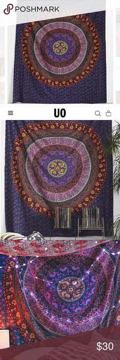 Urban Outfitters Tapestry Multicolored medallion tapestry from Urban outfitters. Perfect condition. Urban Outfitters Other