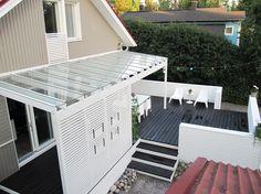 Overbygg veranda, flere bilder på bloggen...  Bambula: TERASSI JA PIHA