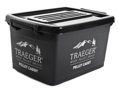 Keep your Traeger Wood Pellets dry and safe with our new Pellet Caddy. Holds 40 lbs. of pellets.
