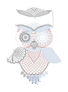 Amazing owl  crochet diagram.