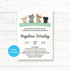 Marauders Animals Harry Potter Baby Shower Printable Invitation by CrissyDesignCo Online Printing Companies, Printing Services, Printable Invitations, Shower Invitations, Harry Potter Baby Shower, Target Baby, Whats In Your Purse, Diaper Raffle Tickets, Couple Shower