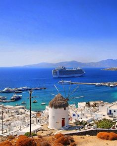 Mykonos - One of the Most Scenic & Romantic Islands in Greece ! Santorini, Mykonos Greece, Vacation Destinations, Dream Vacations, Vacation Spots, Oh The Places You'll Go, Places To Travel, Places To Visit, Paros